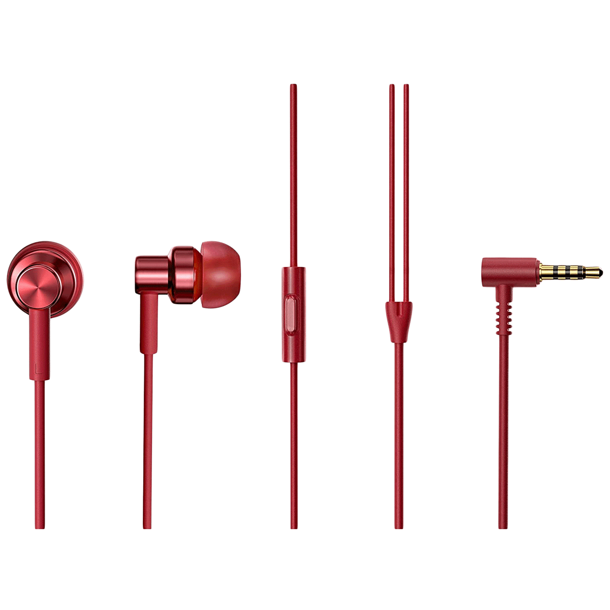 Xiaomi Redmi In-Ear Wired Earphone with Mic (In-Built HD Microphone, BHR4206IN, Red)