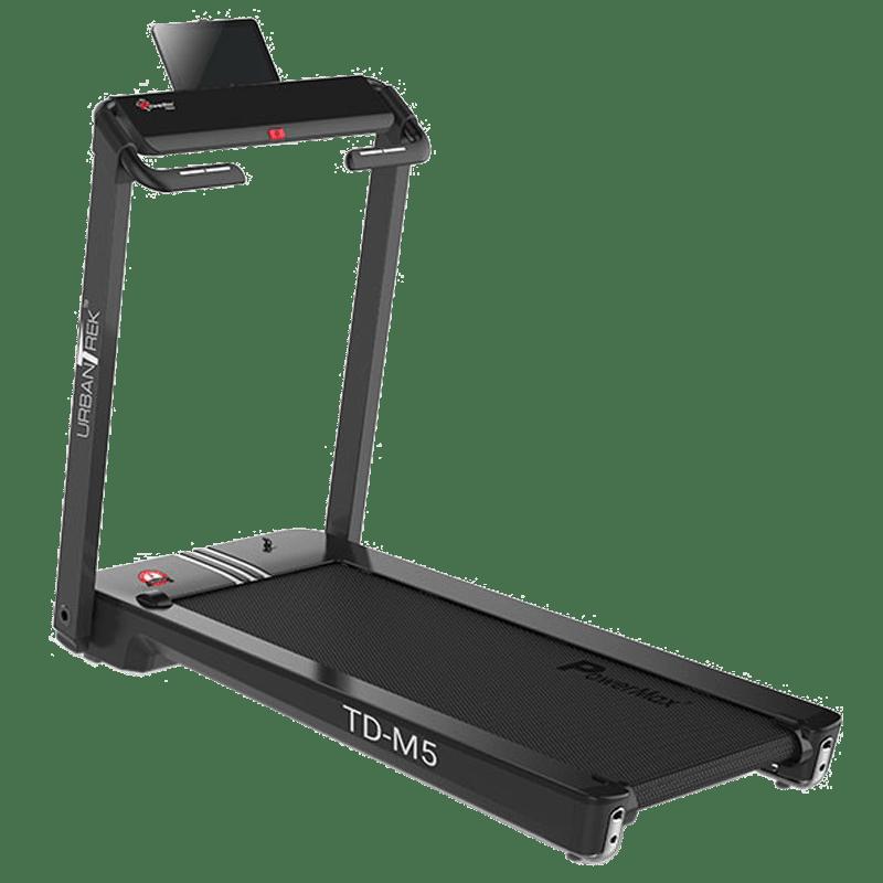 PowerMax UrbanTrek 5 HP Foldable Motorized Treadmill (Heart Rate Sensor, TD-M5, Black)