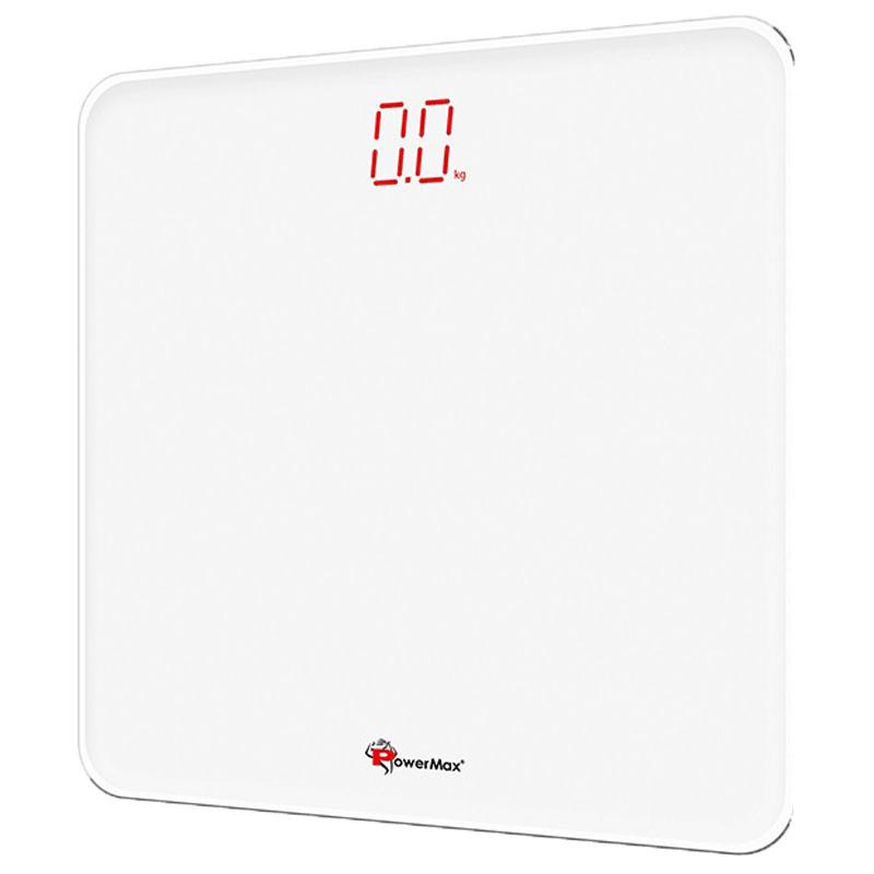 PowerMax Weight Scale (Step-on Technology, Precision Sensors, BSD-5, Super White)
