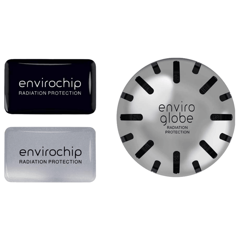 Environics Anti Radiation Chip & Ball Combo Pack of 3 (122CGTP, Black/Silver)