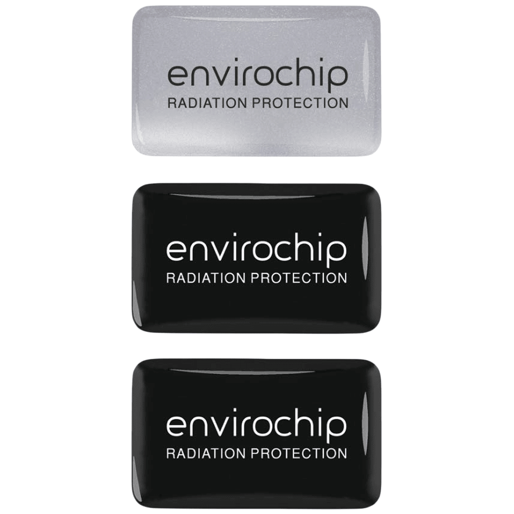 Environics Envirochip Anti Radiation Chip for Mobile (Pack of 3, 109CMTP, Black/Silver)