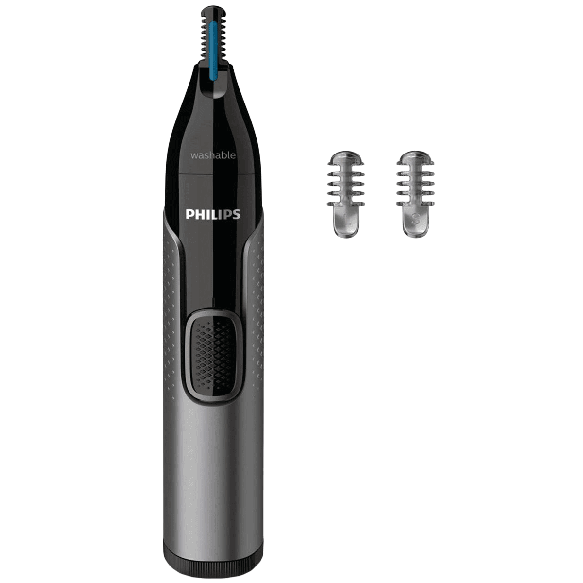 Philips Series 3000 Stainless Steel Blades Cordless Nose, Ear & Eyebrow Trimmer (Precision Trim Technology, NT3650/16, Grey)