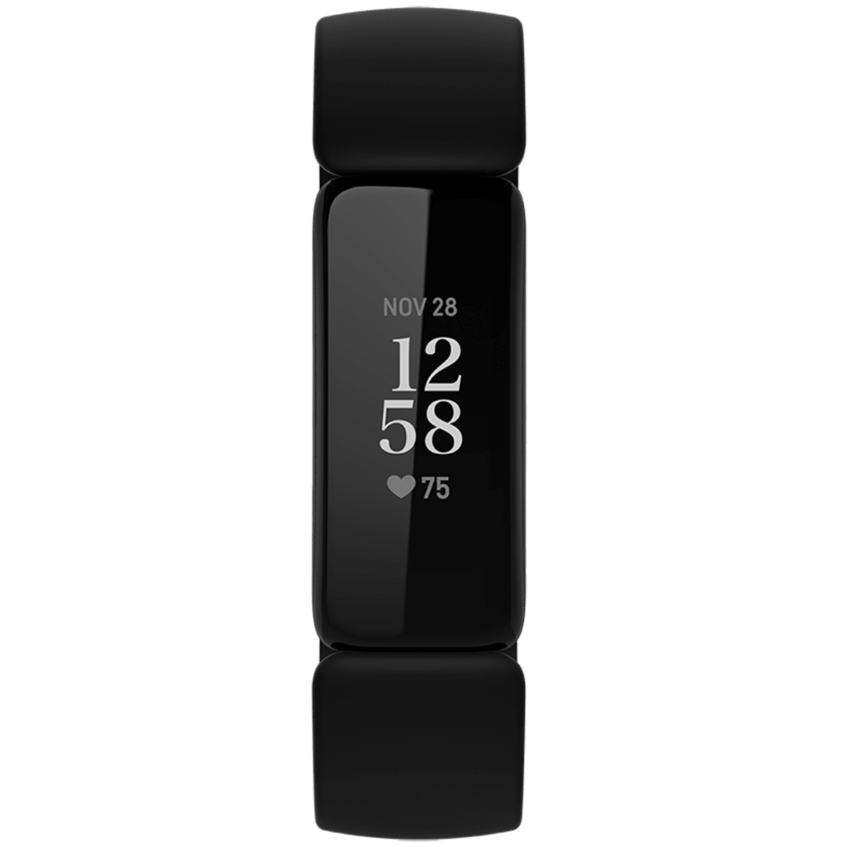 Fitbit Inspire 2 Fitness Tracker (40.9mm) (24/7 Heart Rate, FB418BKBK, Black, Silicone Band)