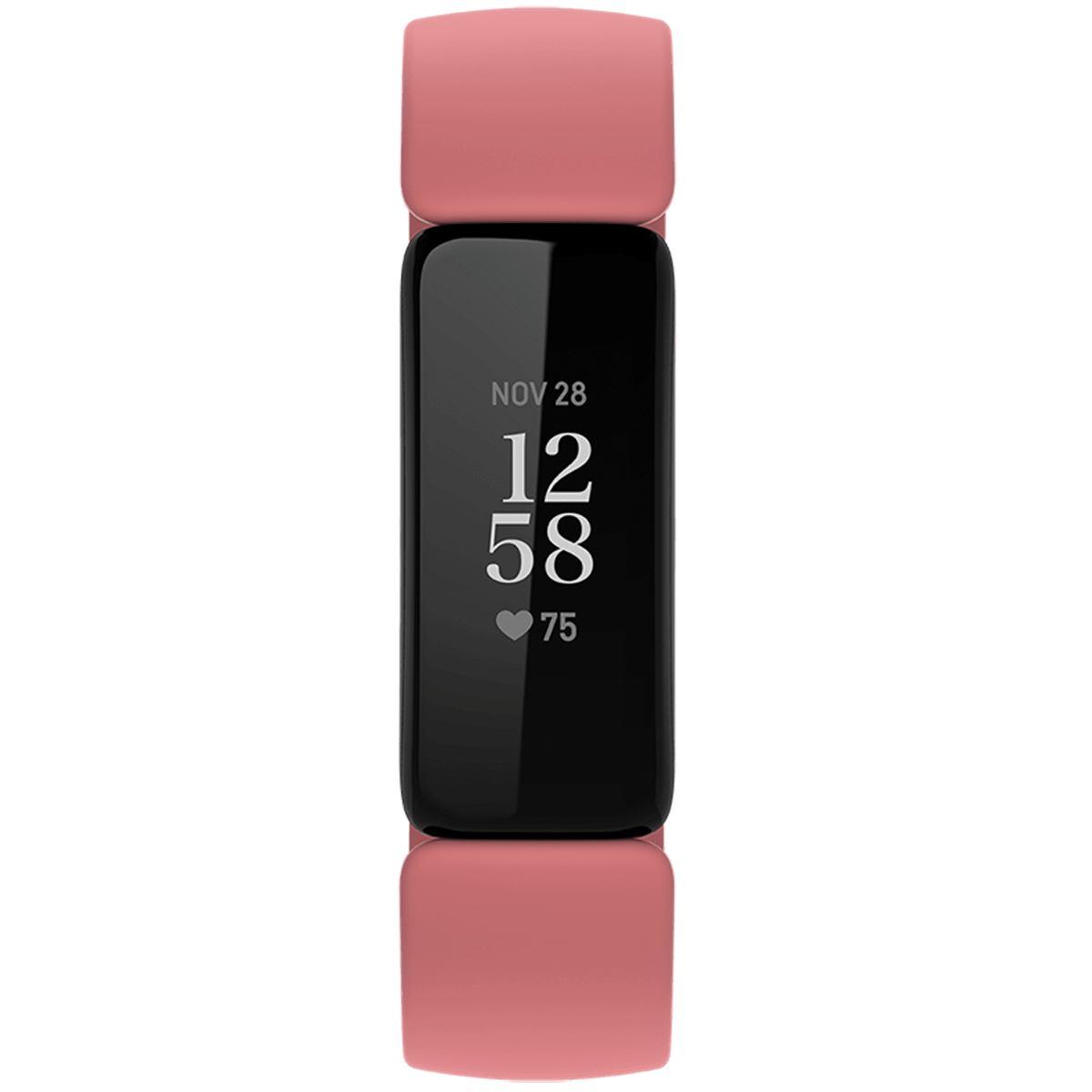 Fitbit Inspire 2 Fitness Tracker (40.9mm) (24/7 Heart Rate, FB418BKCR, Black/Desert Rose, Silicone Band)