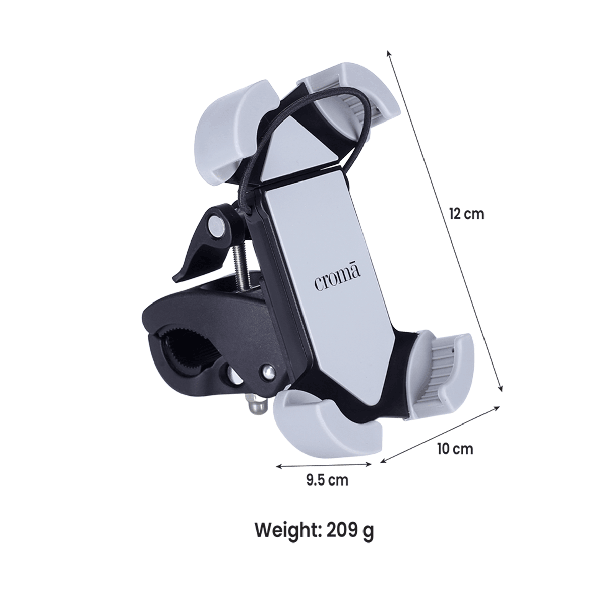 Croma Mobile Mount for Motor Bike and Bicycle (360 Degree Rotating, CRCA2017, Black)_4