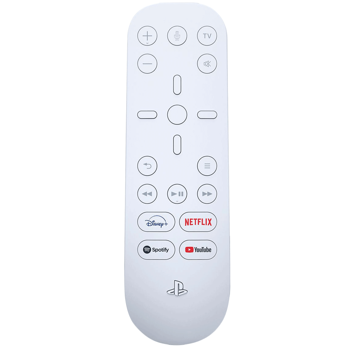 Sony Media Remote For Playstation 5 (Dedicated App Buttons, CFI-ZMR1BX/R, White)