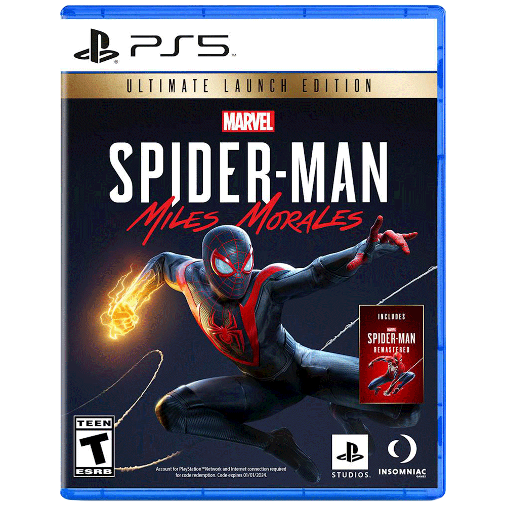 Sony Marvel's Spider-Man: Miles Morales For PS5 (Action-Adventure Games, Ultimate Edition, PPSA-01341)
