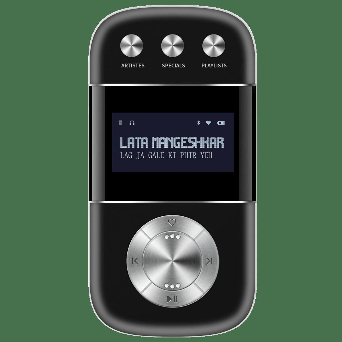 Saregama Carvaan Go 2.0 2 Watt Bluetooth MP3Player (3000 Pre-Loaded Songs, GO0005, Classic Black)