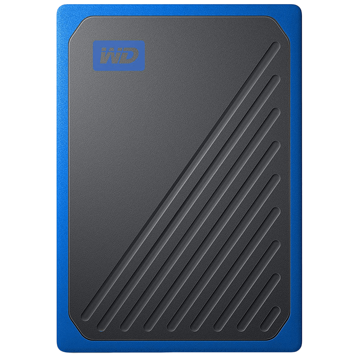 Western Digital My Passport Go 500GB USB 3.0 Solid State Drive (Compact and Integrated, WDBMCG5000ABT-WESN, Black/Cobalt Trim)