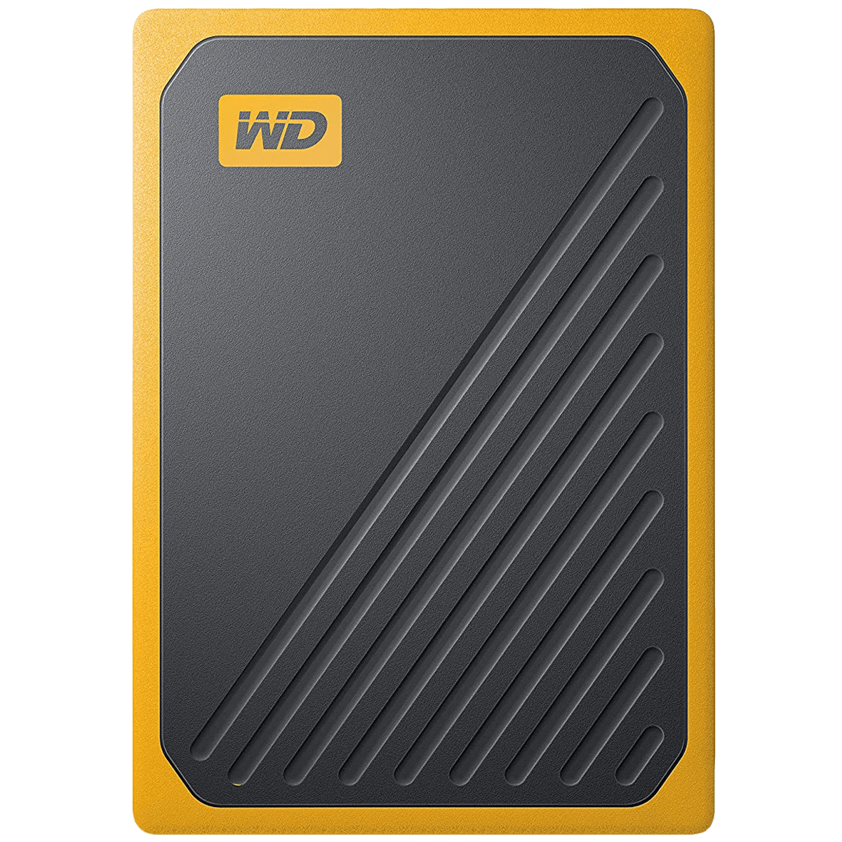 Western Digital My Passport Go 500GB USB 3.0 Solid State Drive (Compact and Integrated, WDBMCG5000ABT-WESN, Black/Amber Trim)