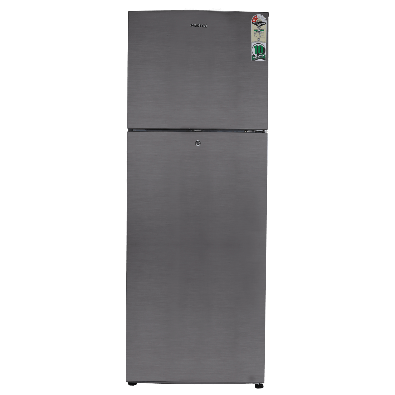 Croma 310 Litres 2 Star Frost Free Double Door Refrigerator (Quick Chill Technology, CRAR2403, Silver)