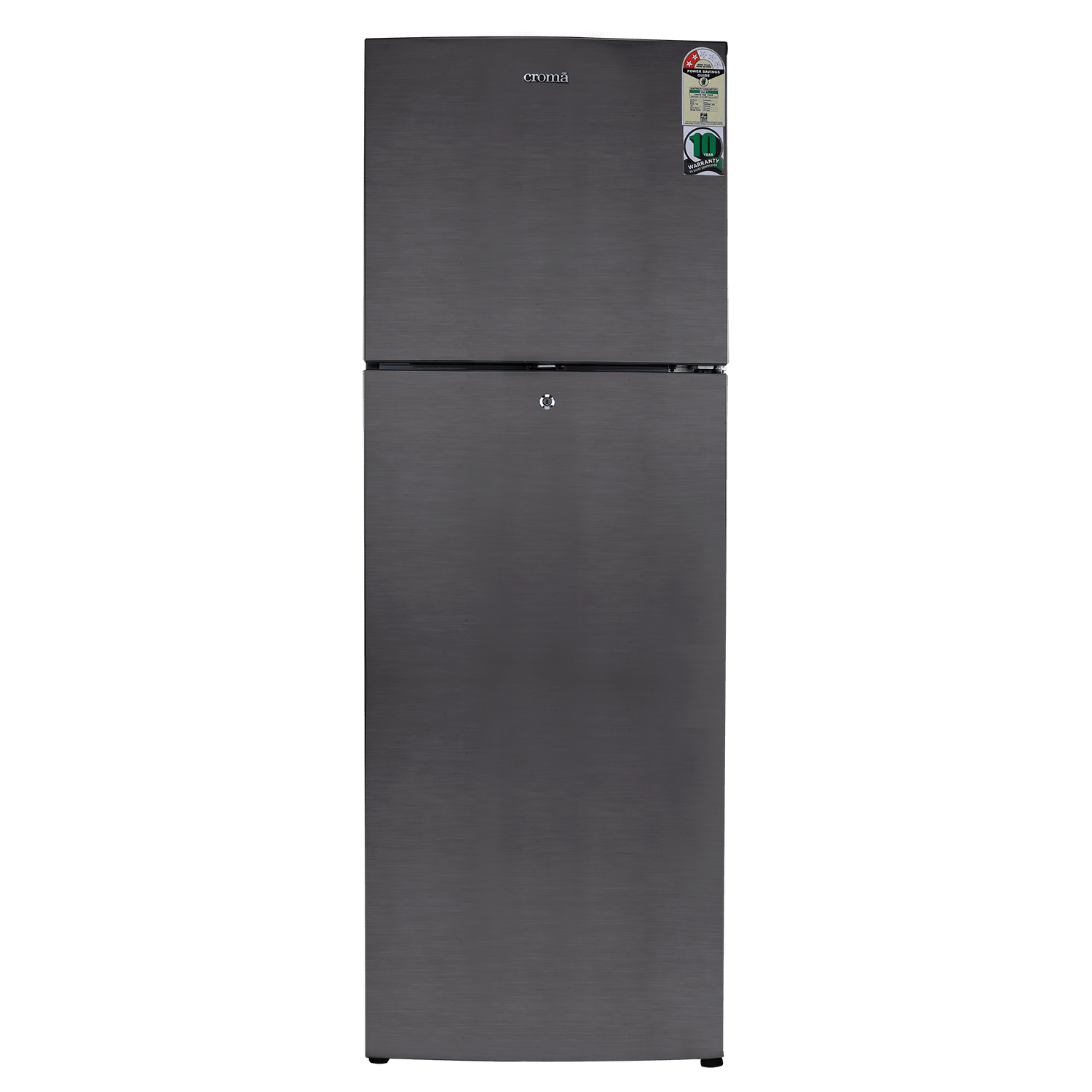 Croma 347 Litres 2 Star Frost Free Double Door Refrigerator (Quick Chill Technology, CRAR2404, Silver)