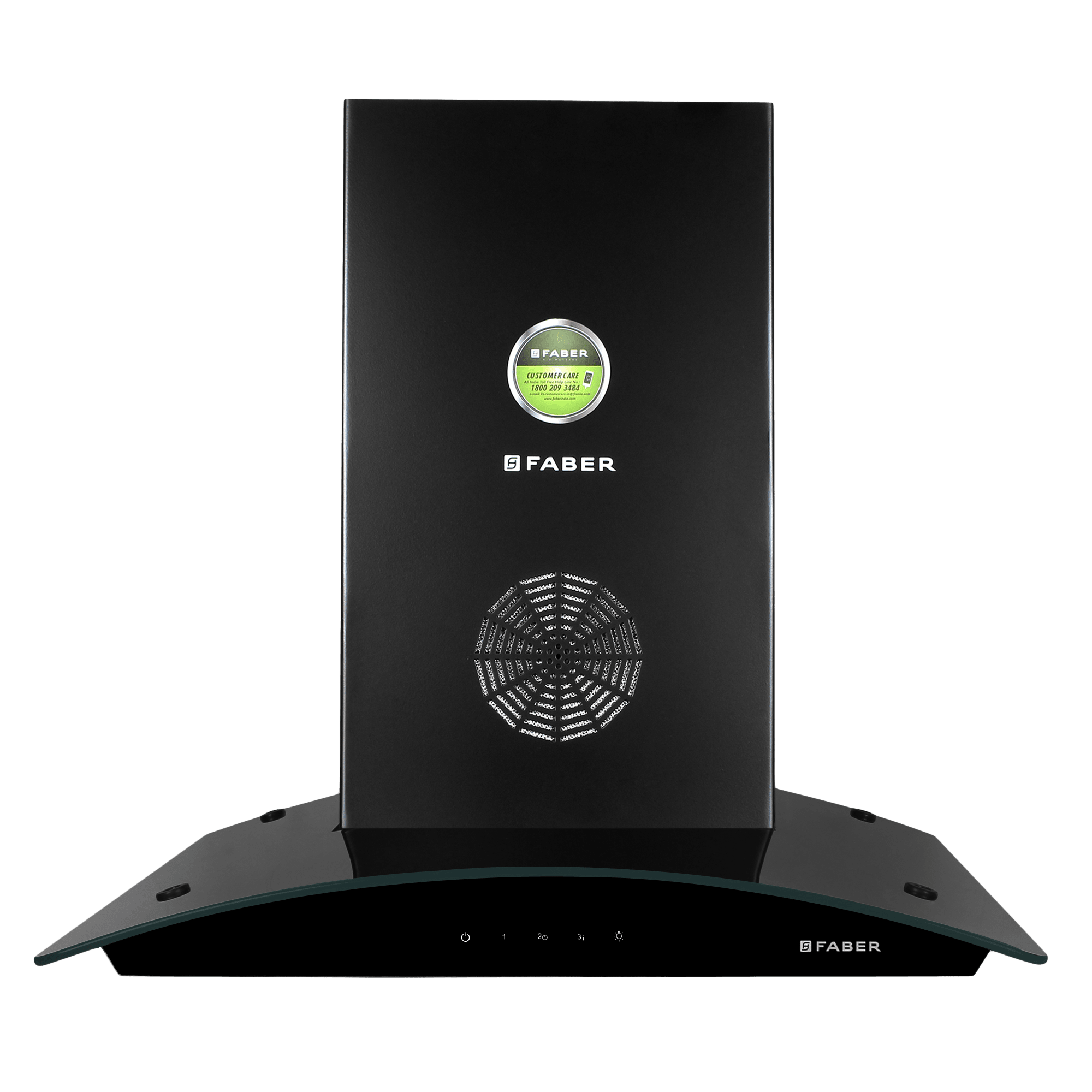 Faber Feel 3D Plus Max T2S2 1350 m³/hr 60cm Wall Mount Chimney (3 Layer Baffle Filters, 325.0629.064, Black)