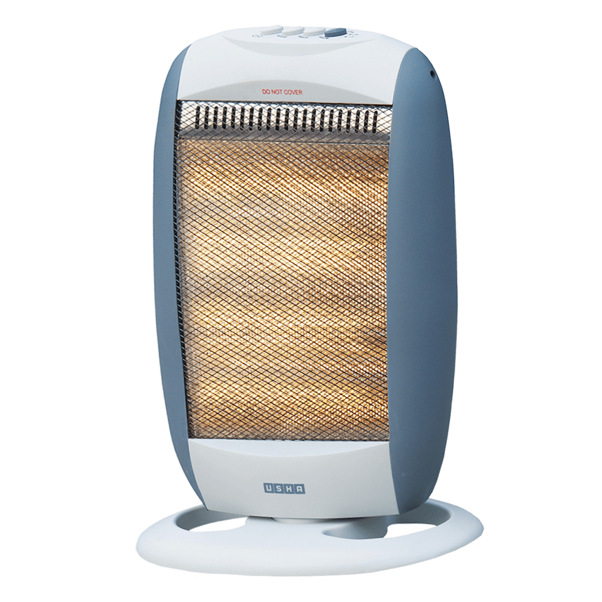Usha 1200 Watts Halogen Room Heater (Automatic Oscillation, HH3303, Silver)