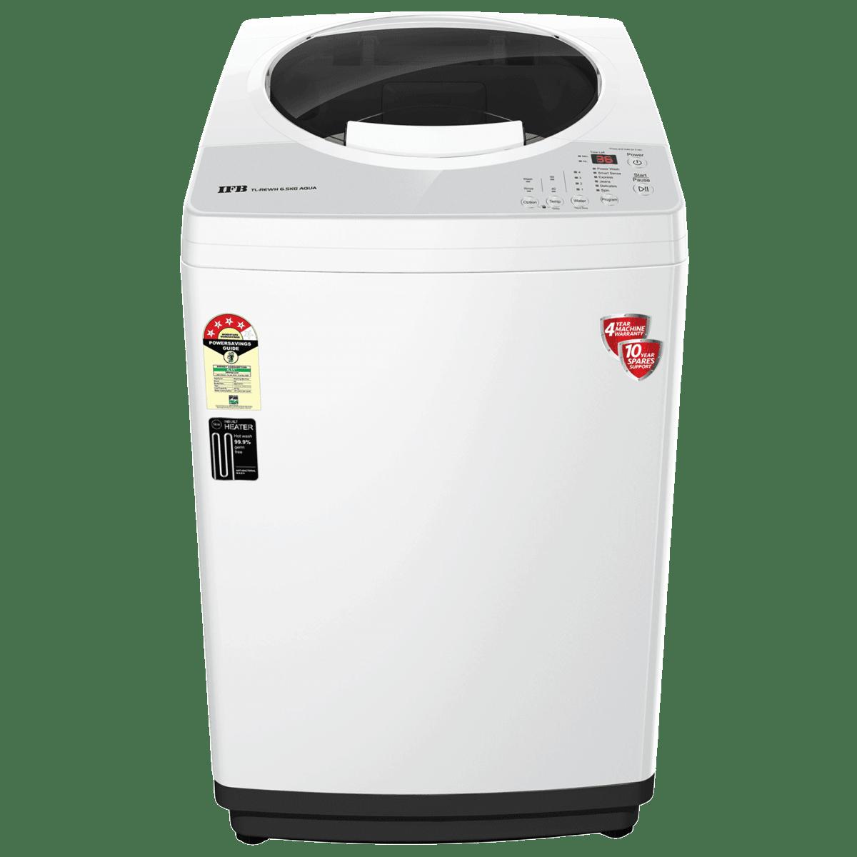 IFB Aqua 6.5 kg 5 Star Fully Automatic Top Load Washing Machine (Smart Weight Senser, TL-REWH, PCM - White)