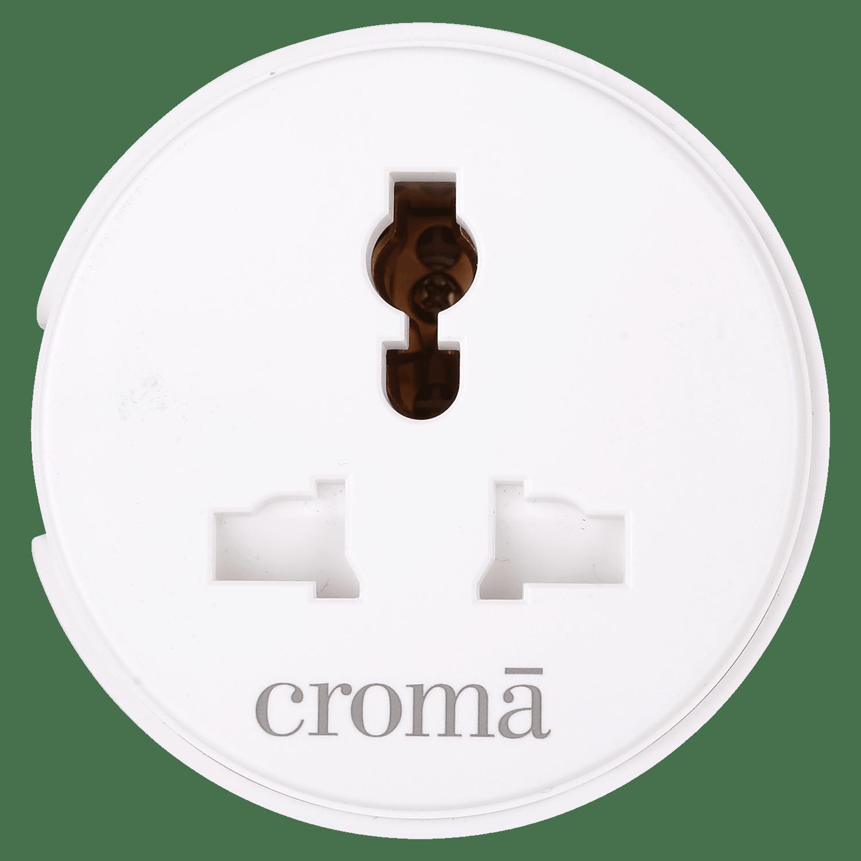 Croma Universal Wi-Fi Smart Plug (CRCP1005, White)