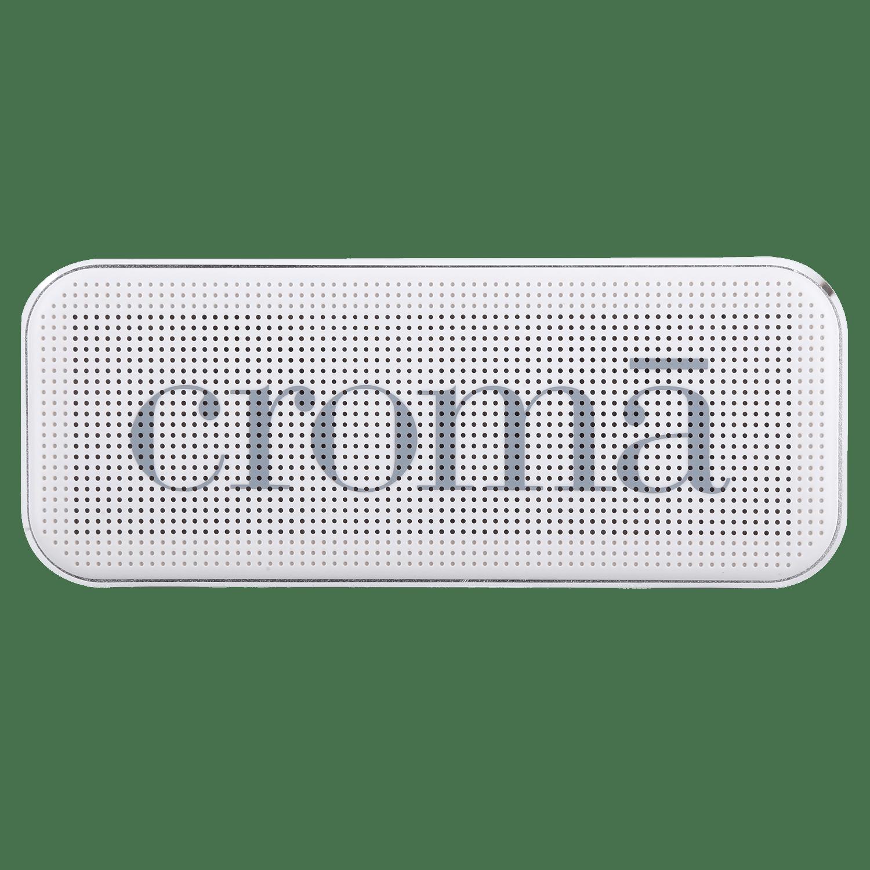 Croma Bric Bluetooth Speaker (CRER2109, White)