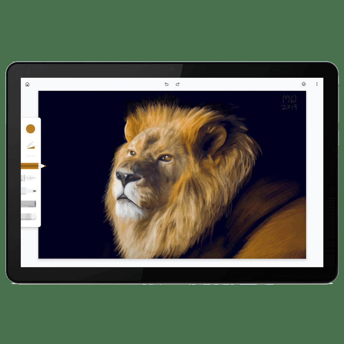 Lenovo IdeaPad Duet Chromebook WiFi Standard Tablet (Chrome OS, MediaTek Helio P60T, 25.65cm (10.1 Inches), 4GB RAM, 128GB ROM, ZA6F0032IN, Ice Blue/Iron Grey)