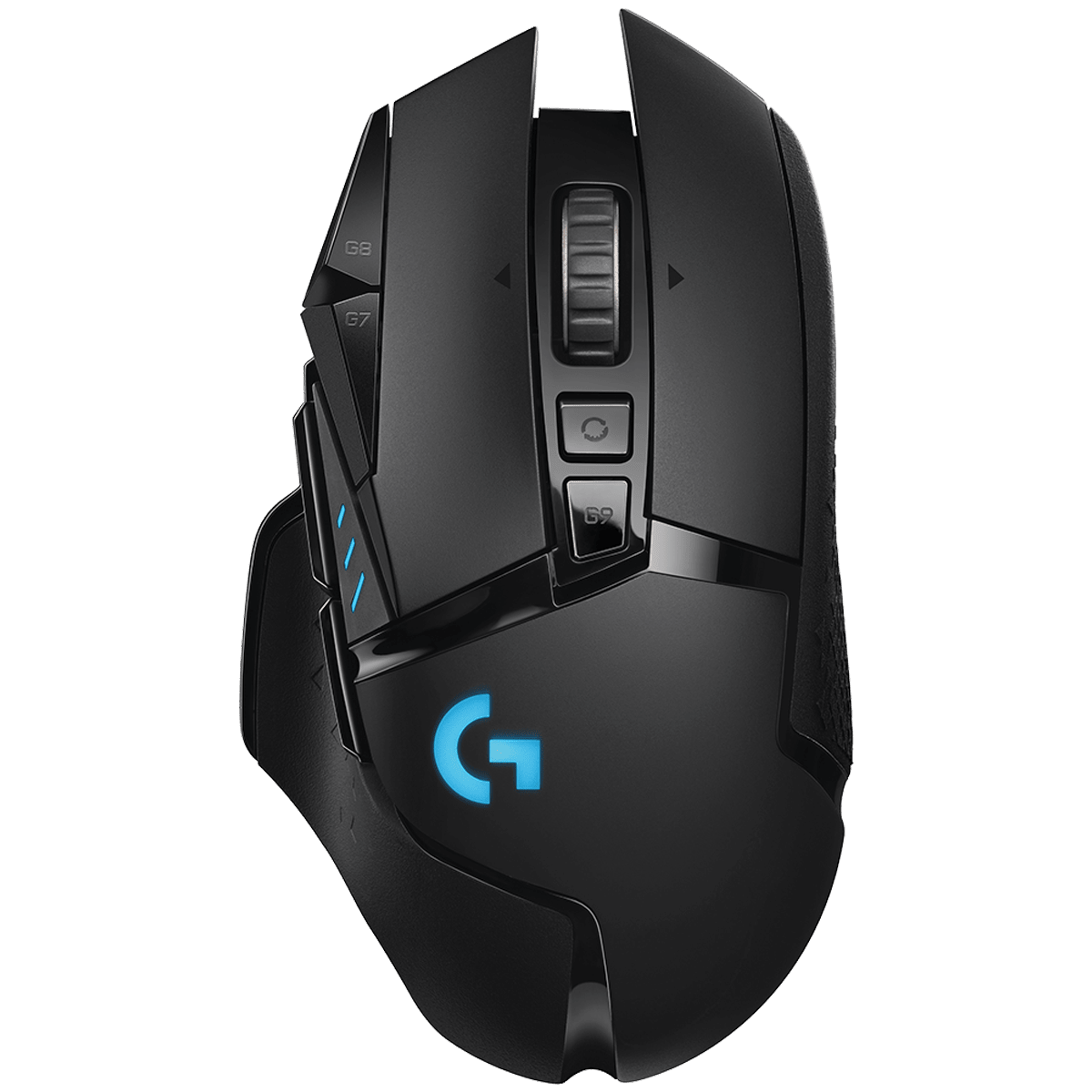 Logitech G502 Lightspeed Wireless Mouse (Lightsync RGB Lighting, 910-005569, Black)