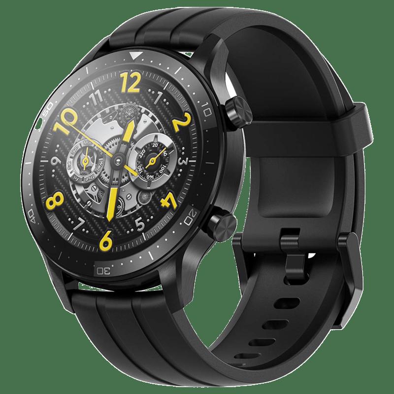 Realme Watch S Pro Smart Watch (GPS, 35mm) (AIoT Control, RMA186, Black, Silicone Strap)