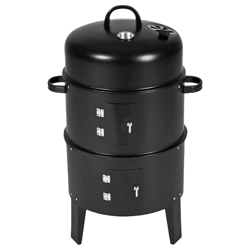 Peng Essentials Charcoal Griller (Built In Thermometer, PNGFL01, Black)