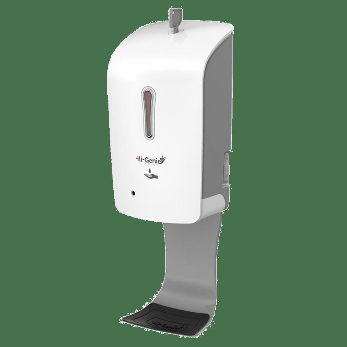 Hi-Genie Bulge Battery Powered Automatic Sanitizer Dispenser (Automatic Infrared Sensor, HG-003, White/Grey)