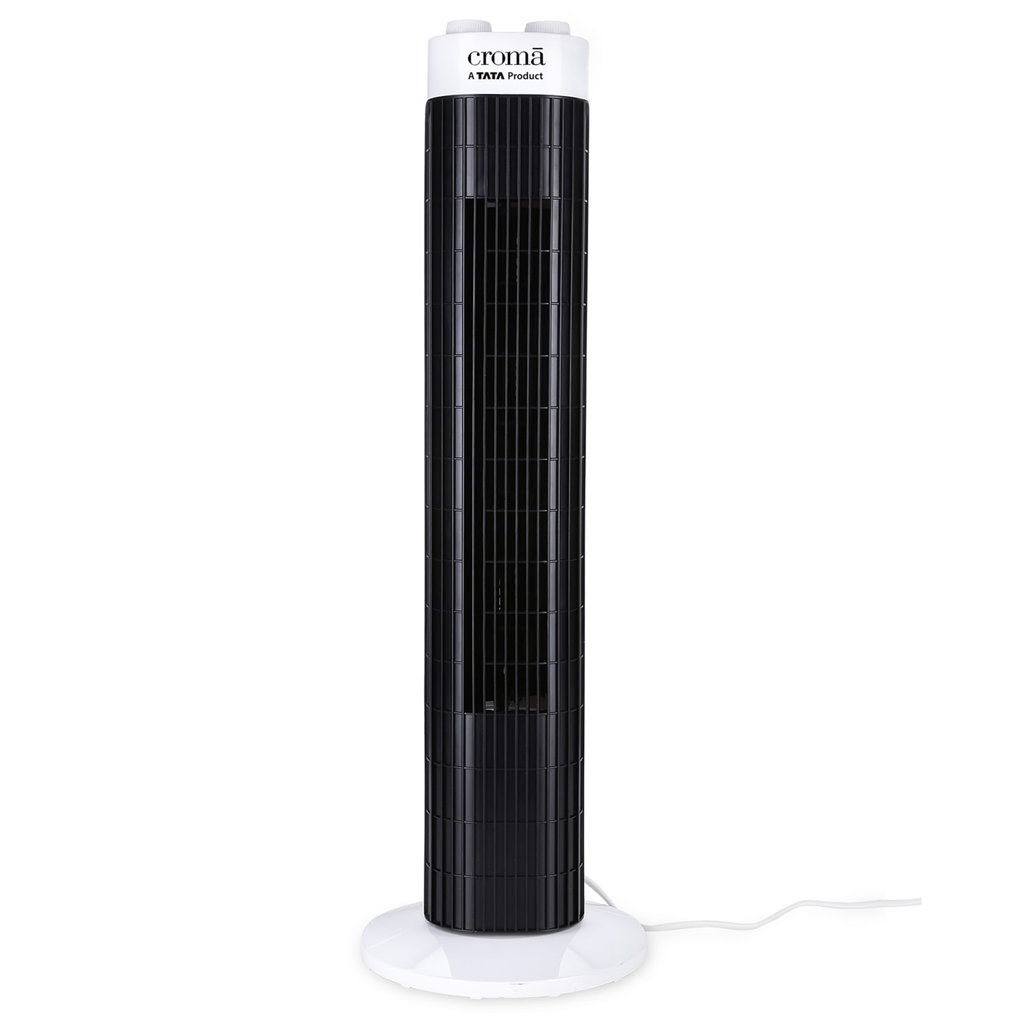 Croma Floor Standing Tower Fan (CRAF0028, White & Black)