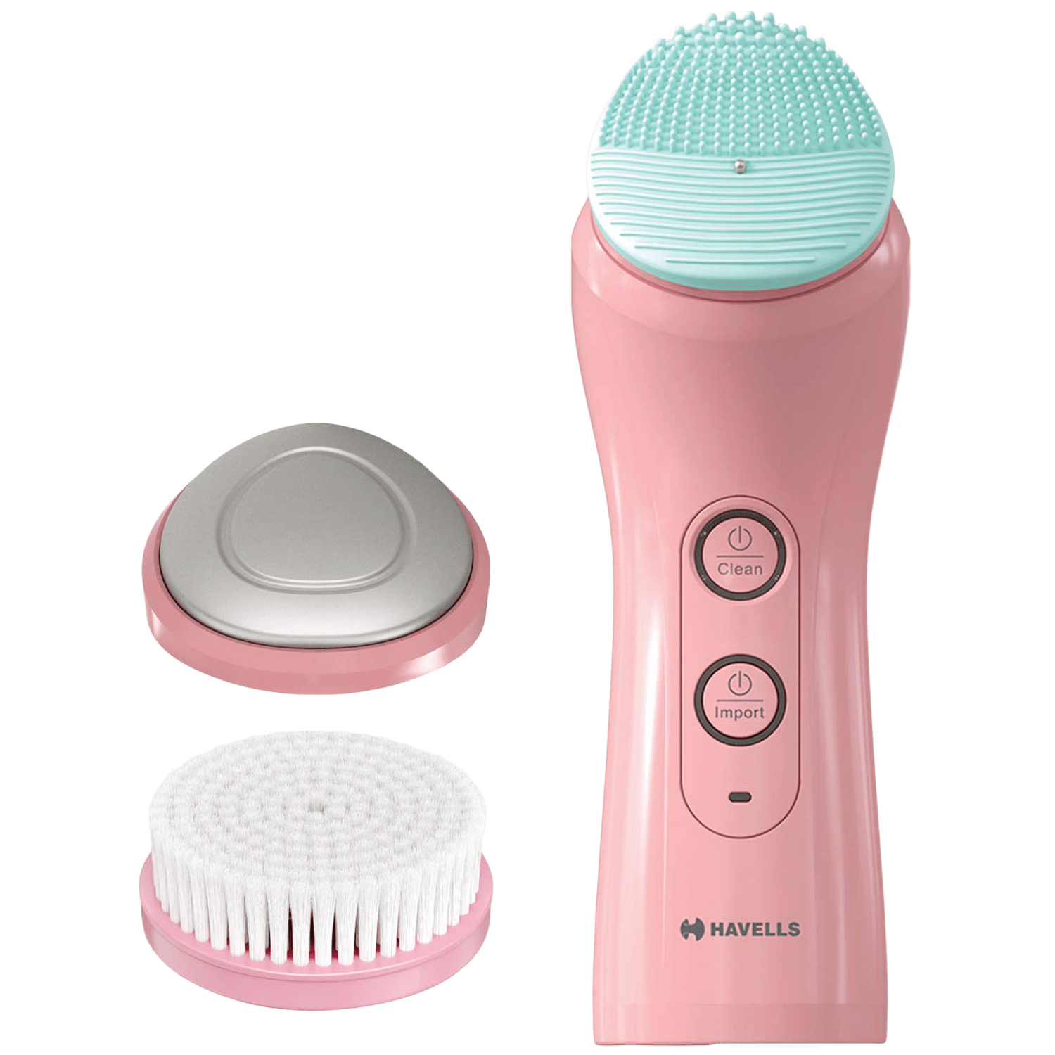Havells Skin Care Cordless 2-in-1 Facial Cleanser (6 Operation Modes, SC5070, Pink)