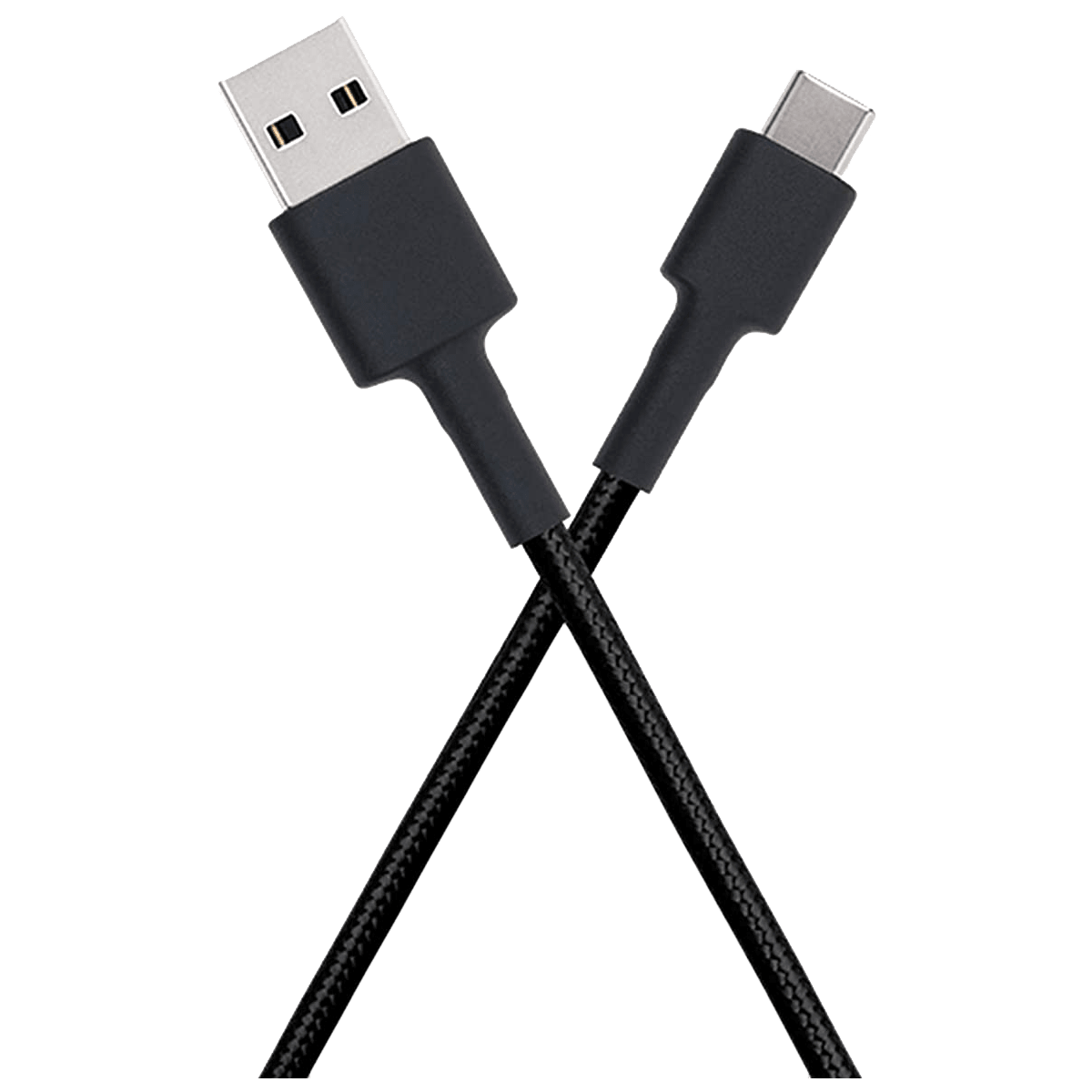 Xiaomi Mi Braided DuPont Kevlar Fiber 1 Meter USB 2.0 (Type-A) to USB 3.0 (Type-C) Power/Charging USB Cable (Fast Charging Compatible, SJV4160IN, Black)