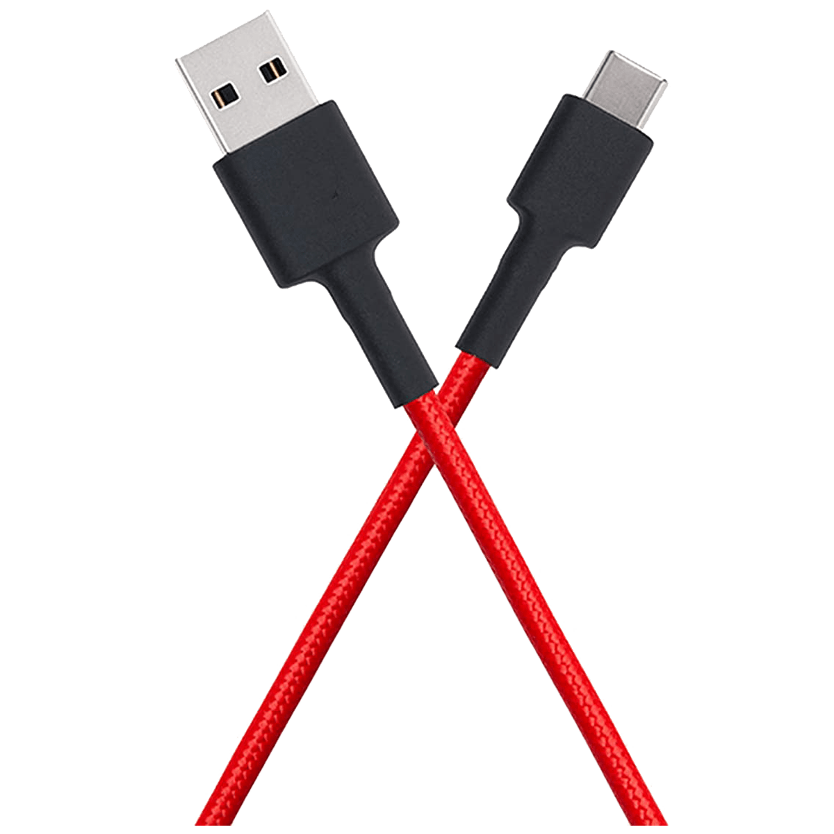 Xiaomi Mi Braided DuPont Kevlar Fiber 1 Meter USB 2.0 (Type-A) to USB 3.0 (Type-C) Power/Charging USB Cable (Fast Charging Compatible, SJV4161IN, Red)