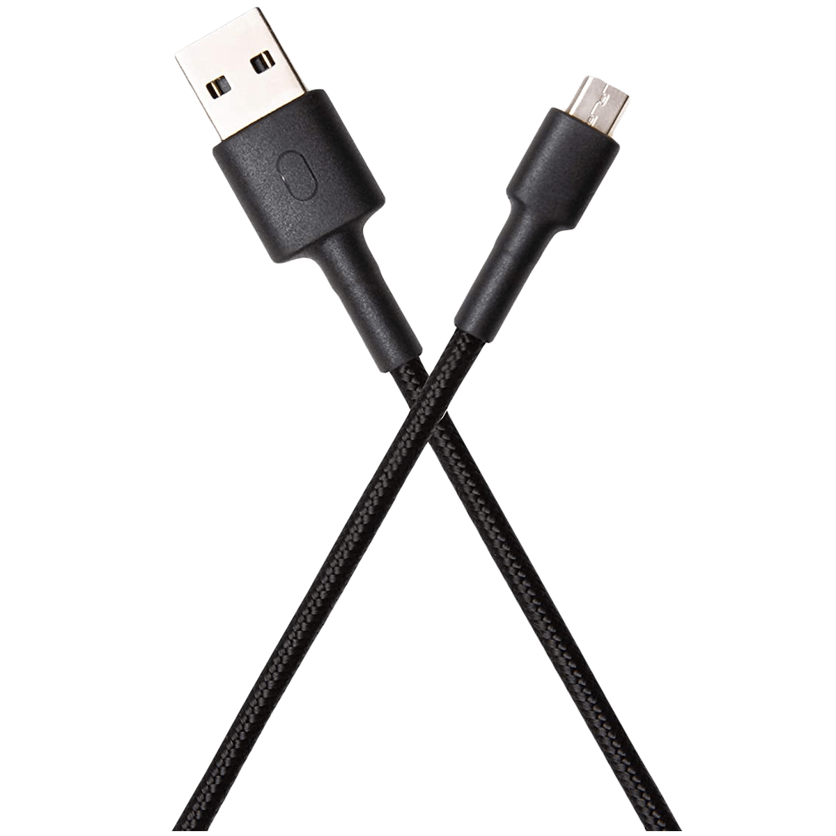 Xiaomi Mi Braided Aramid Fiber 1 Meter USB 2.0 (Type-A) to Micro USB 2.0 (Type-B) Power/Charging USB Cable (Fast Charging Compatible, SJV4128IN, Black)