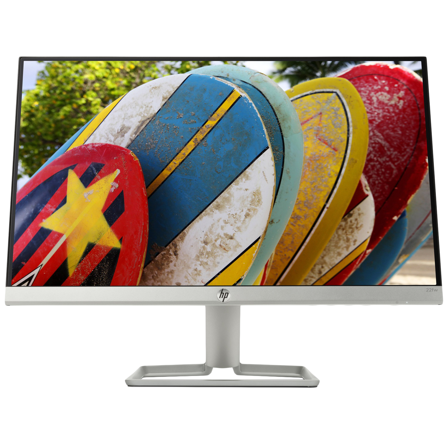 HP 22fw 54.6cm (21.5 Inches) Full HD IPS Screen Monitor (AMD Radeon FreeSync Technology, 3KS61AA, White/Silver)