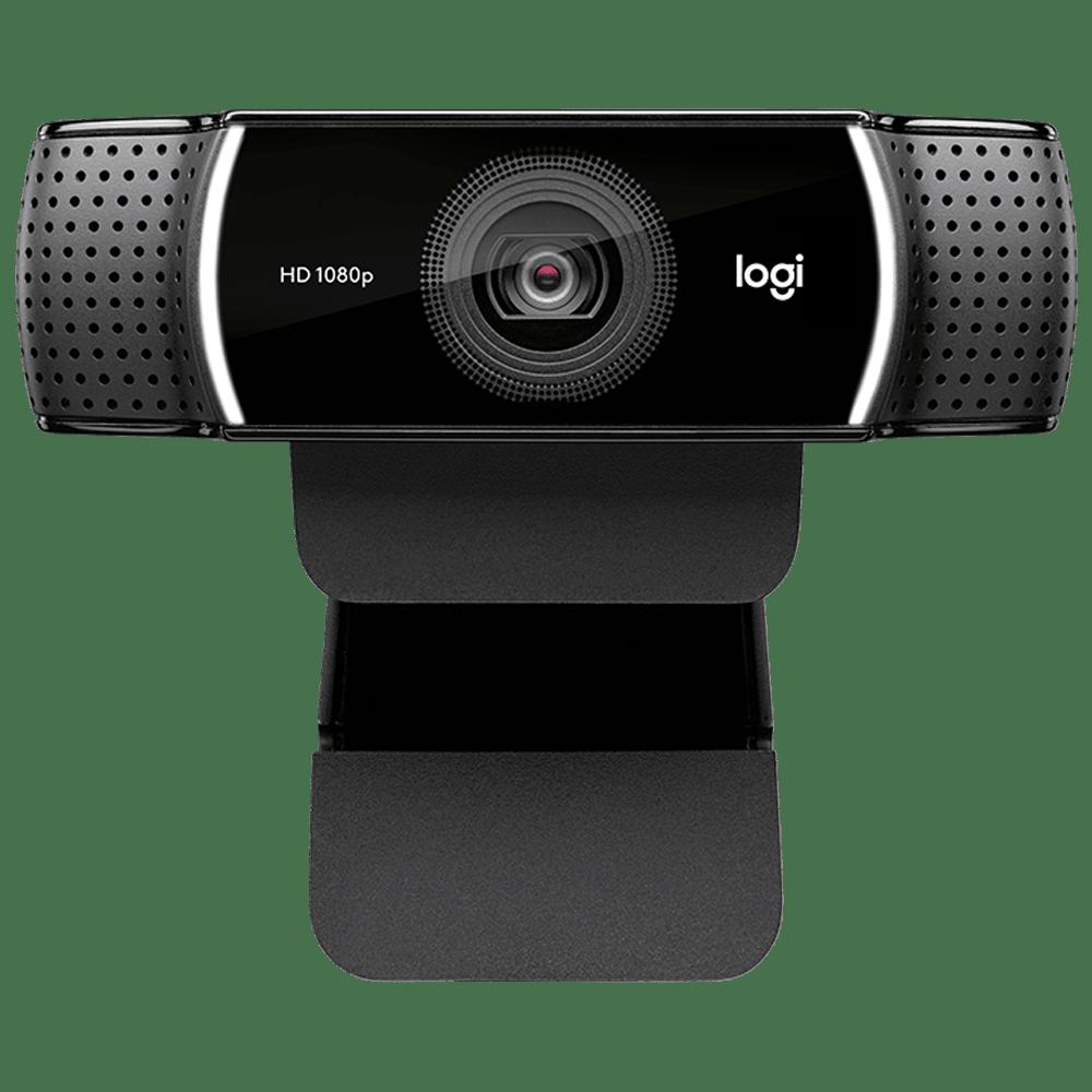 Logitech C922 Pro USB 1080p Web Cam (Automatic Low Light Correction, 960-001090, Black)