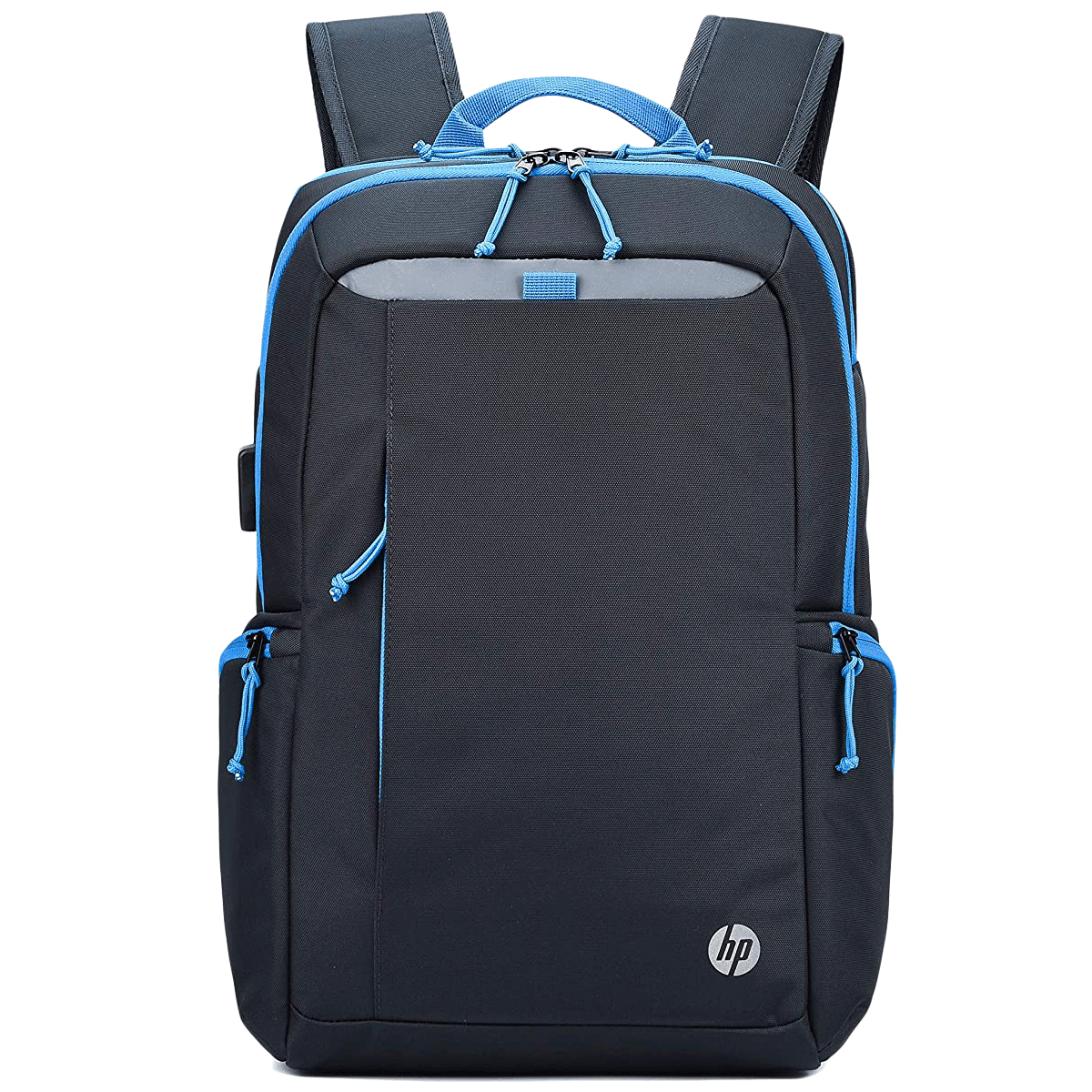 HP Lightweight 500 17 Litres 600D Gucci Polyester Backpack for 15.6 Inch Laptop (USB Charging Plug, 1B3M8AA, Black)