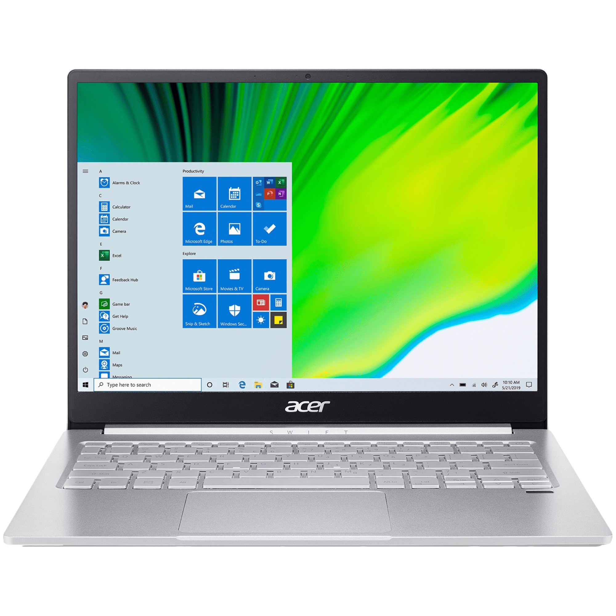 Acer Swift 3 SF313-53-532J (NX.A4KSI.001) Core i5 11th Gen Windows 10 Home Thin and Light Laptop (8GB RAM, 512GB SSD, Intel Iris Xe Graphics, MS Office, 34.3cm, Sparkly Silver)
