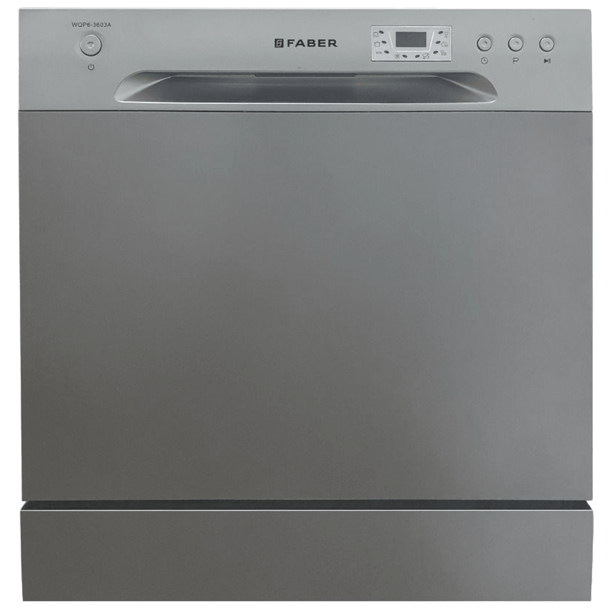 Faber 8 Place Setting Counter Top Dishwasher (Self Clean Filter System, FFSD 6PR 8S Ace, Inox)