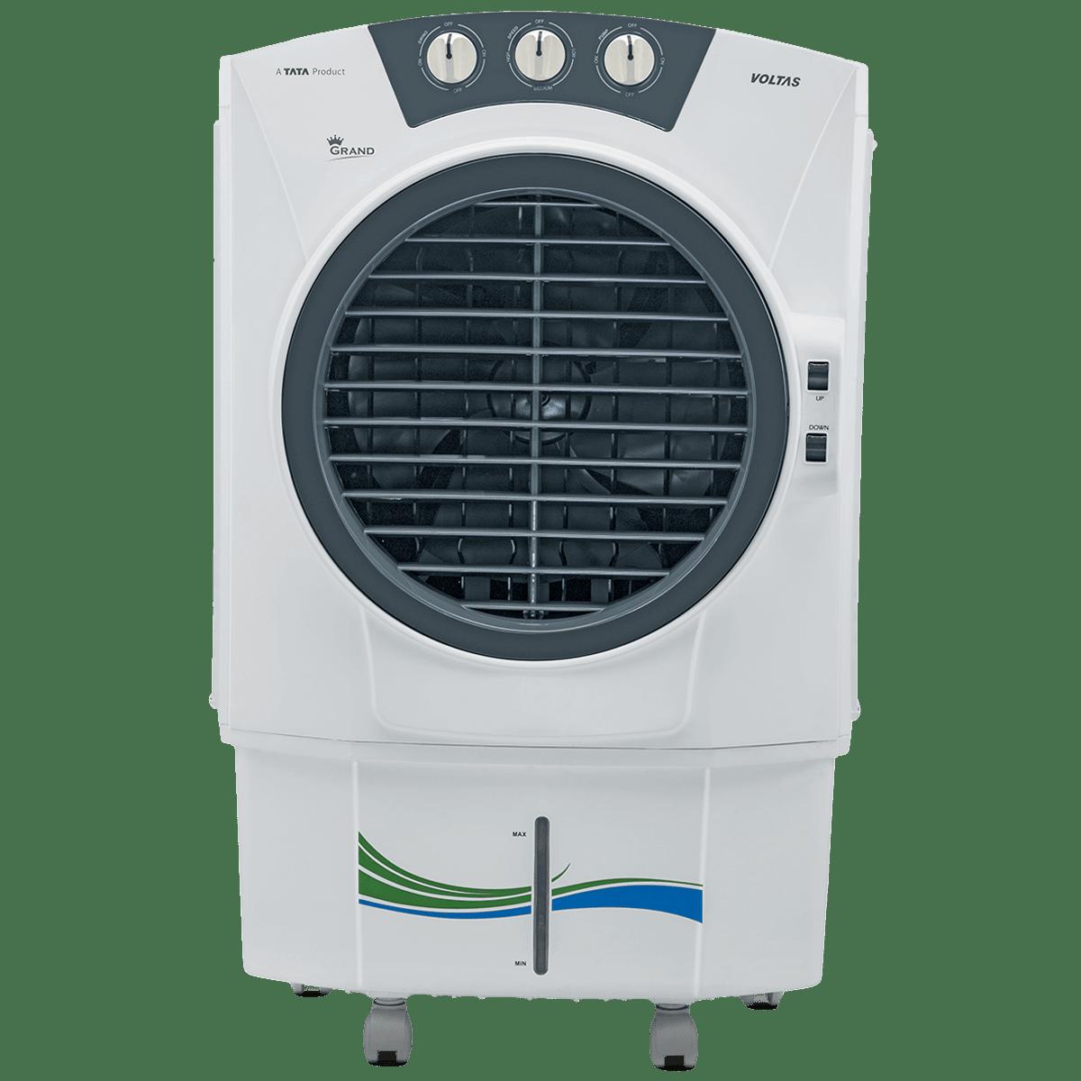 Voltas Grand 52 Litres Desert Air Cooler (Turbo Air Throw, White)