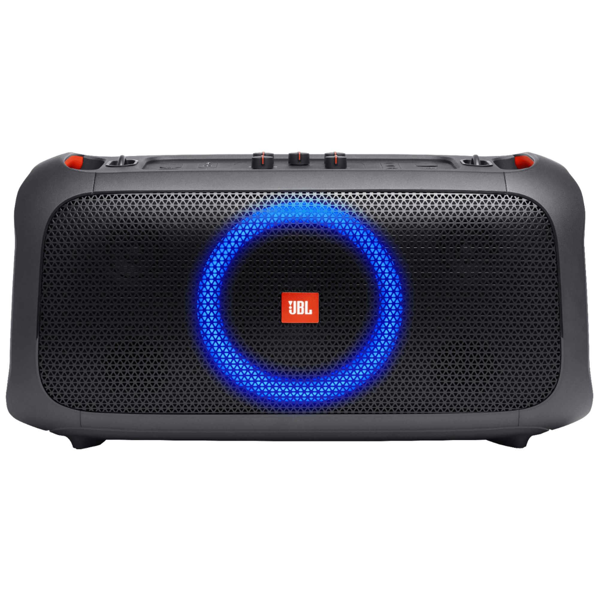 JBL Party Box On The Go 100 Watts Party Speaker (IPX4 Splashproof Protection, Black)