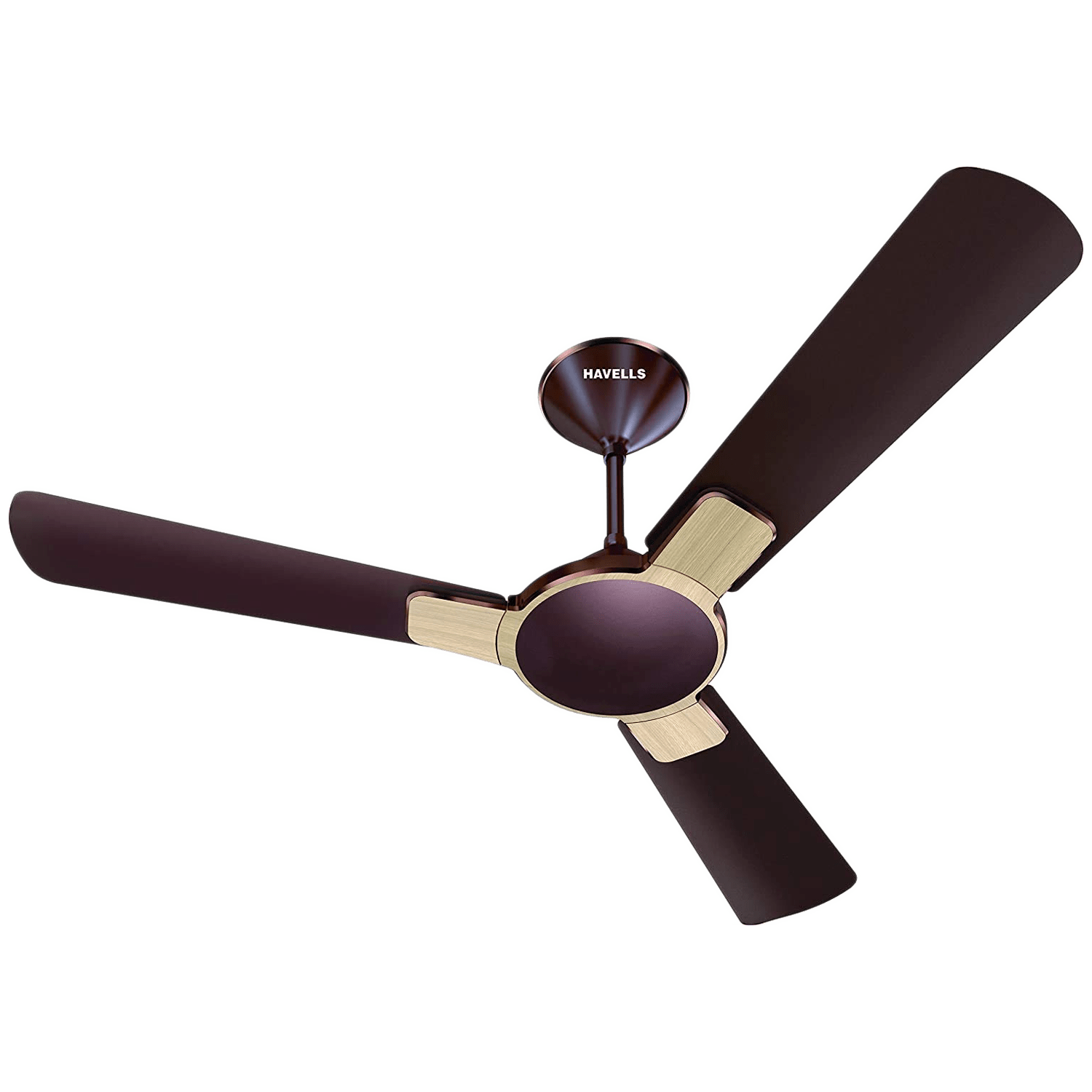 Havells Enticer Wood 120cm Sweep 3 Blade Ceiling Fan (Inverter Compatible, FHCEWSTOAK48, Oakwood)
