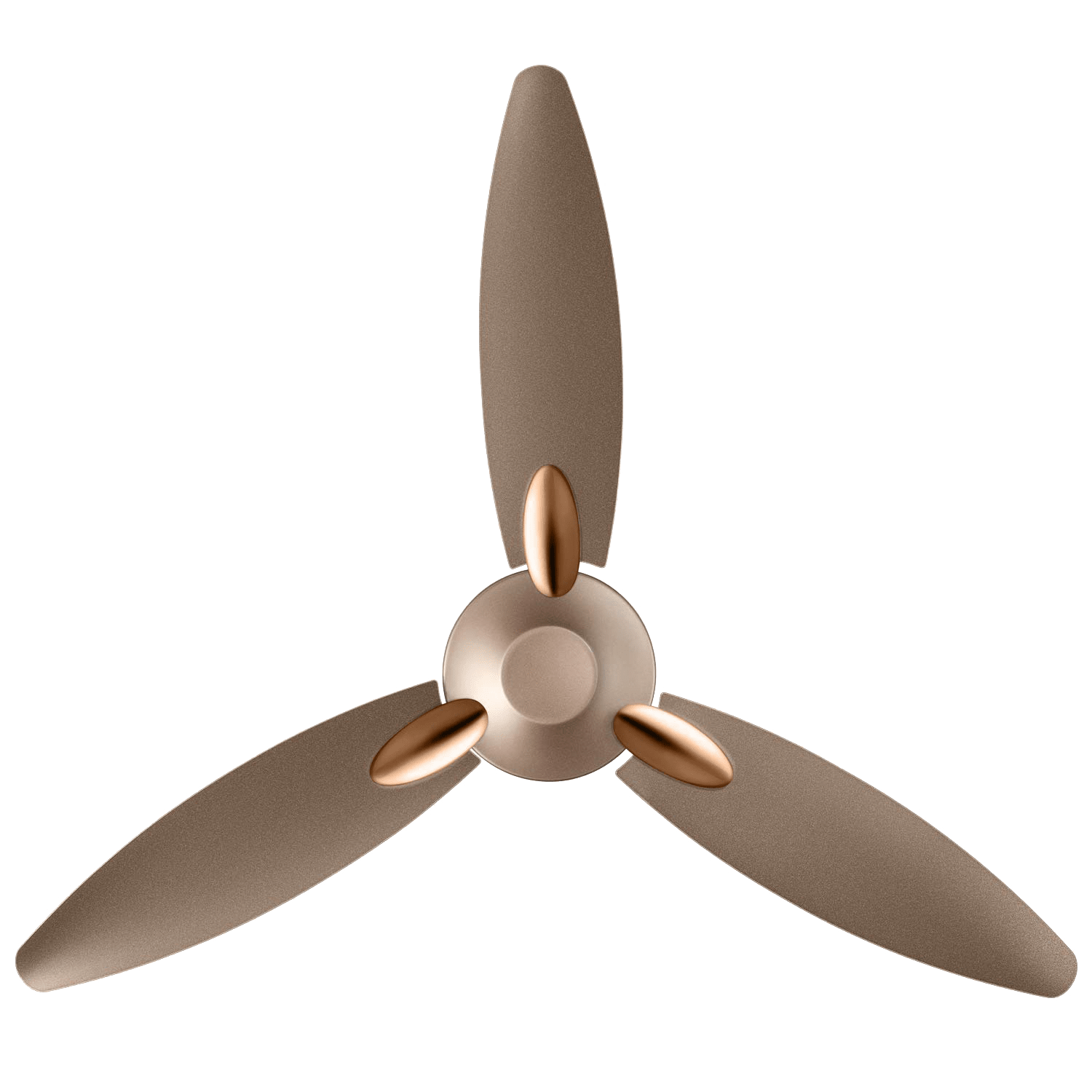 Usha Bloom Daffodil 125cm Sweep 3 Blade Ceiling Fan (Inverter Compatible, 11105BL62GBW, Sparkle Golden & Brown)