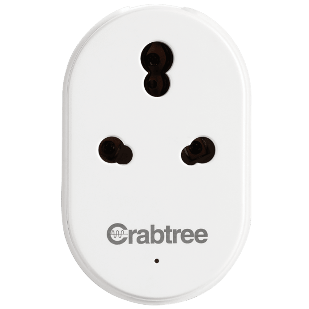 Crabtree Smart Socket for Multi Device Connection (Voice Control Smart Assistance, ACST161600, White)