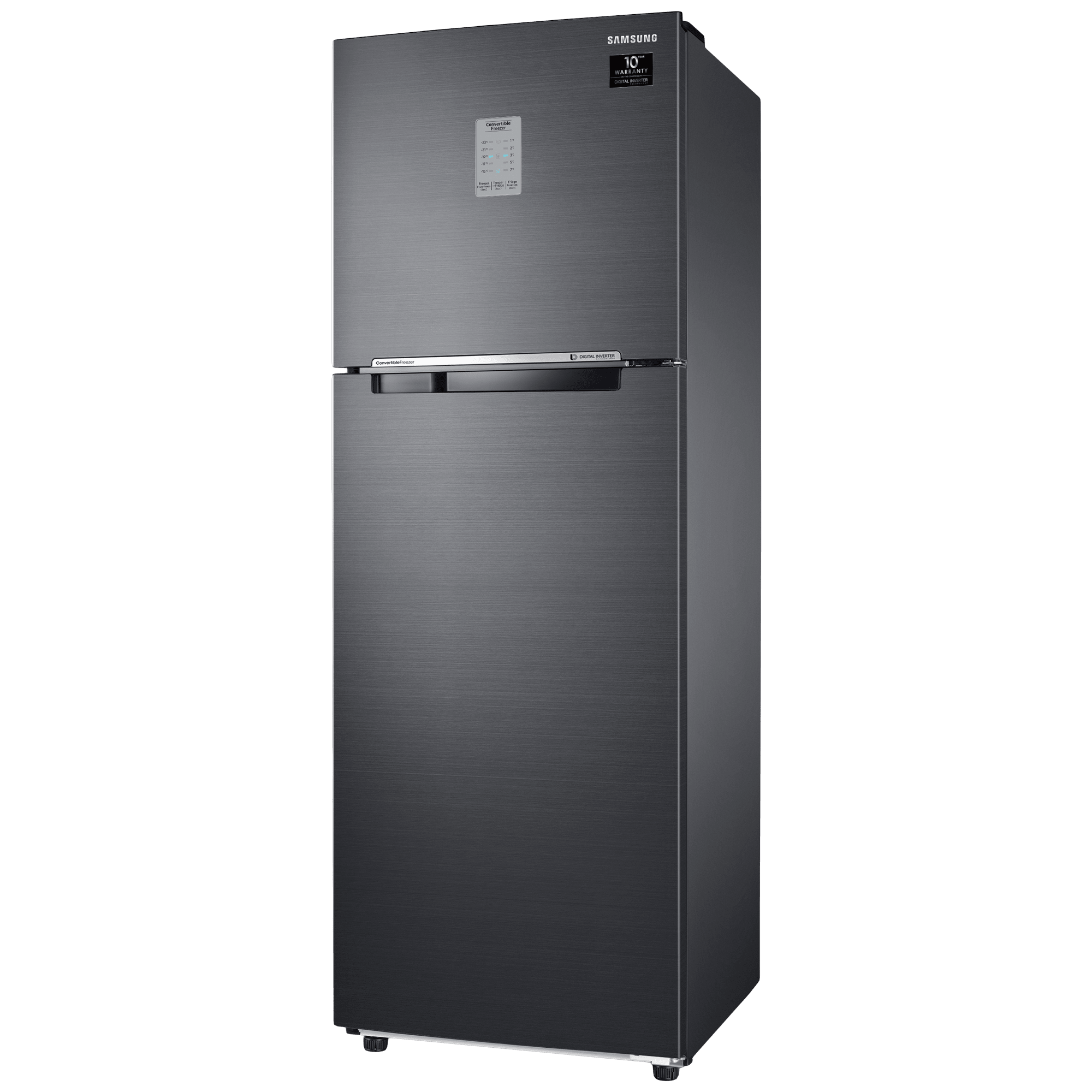 Samsung 275 Litres 3 Star Frost Free Inverter Double Door Refrigerator (Convertible, RT30A3743BX/HL, Luxe Black)