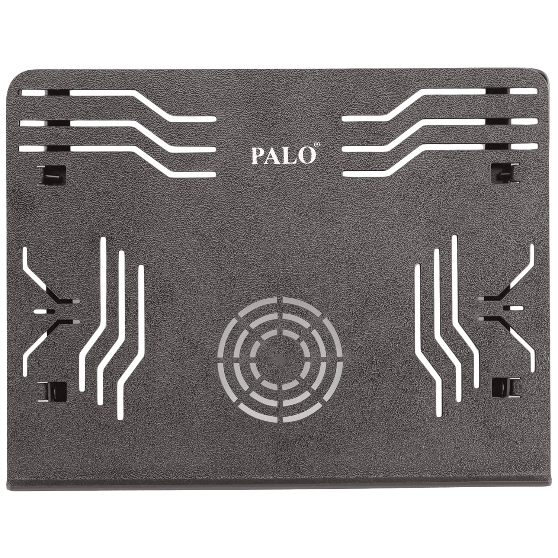 Palo PALO019 Laptop Stand For Laptop (Multi Angle Adjustable, Black)