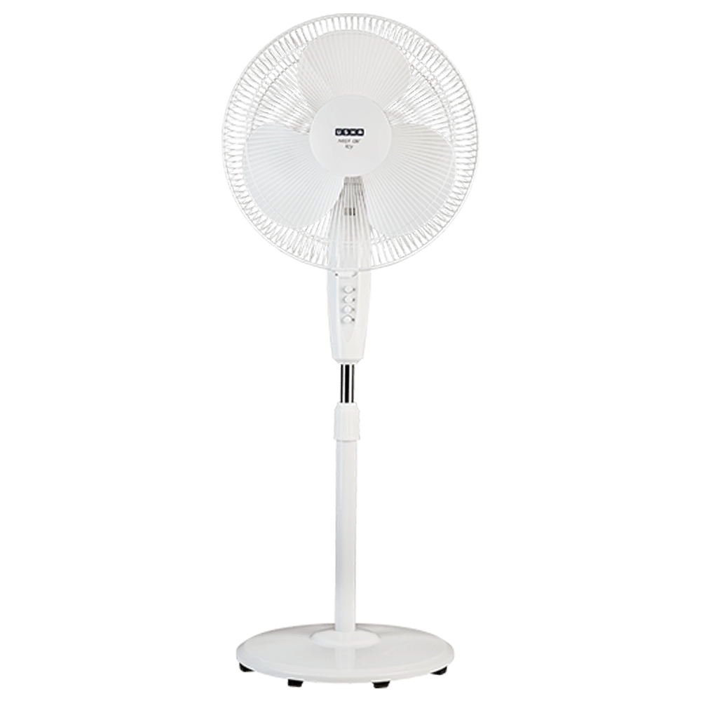 Usha Mist Air Icy 40cm Sweep 3 Blade Pedestal Fan (Unique Pivot Arrangement, 131021565R, White)