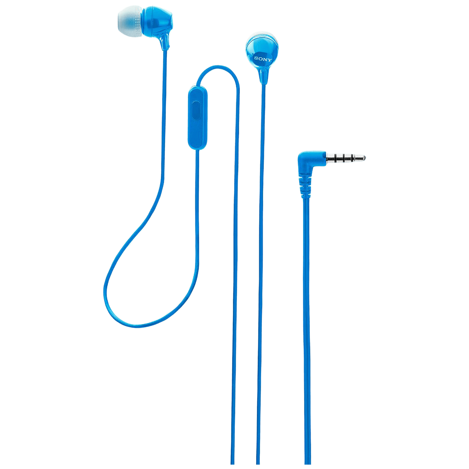 Sony In-Ear Wired Earphone with Mic (Crisp and Clear Sound, MDR-EX14AP, Blue)