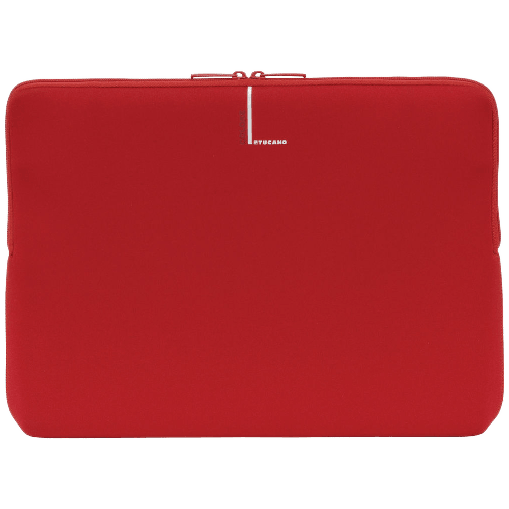 Tucano Colore Second Skin Neoprene Sleeve for 13-15 Inch Laptop (Flat-Lock Construction, BFC1314-R, Red)