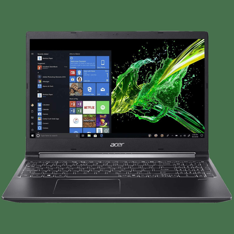 Acer Aspire 7 A715-42G (UN.QAYSI.003) Ryzen 5 Windows 10 Home Thin and Light Laptop (8GB RAM, 512GB SSD, NVIDIA GeForce GTX 1650 + 4GB Graphics, MS Office, 39.62cm, Charcoal Black)