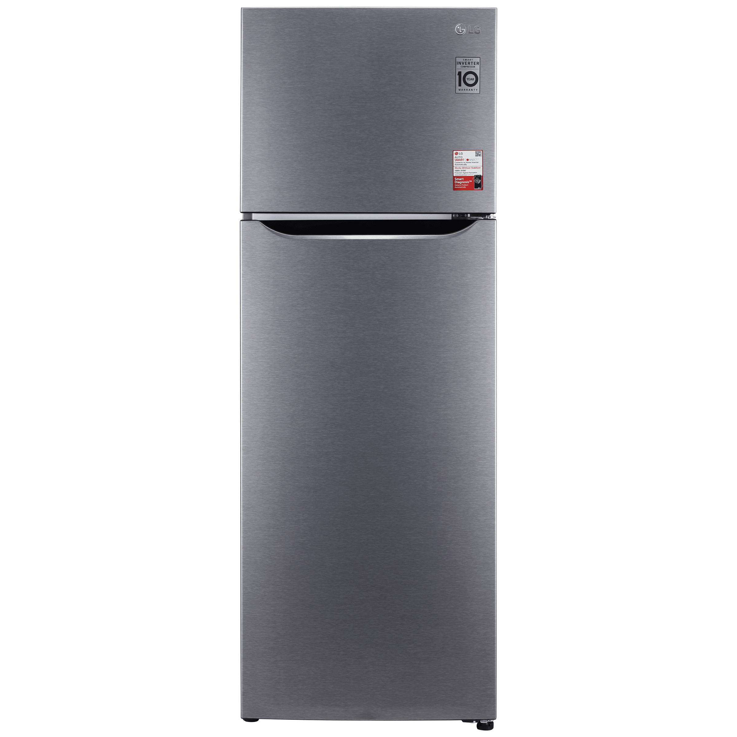 LG 308 Litres 2 Star Frost Free Inverter Double Door Refrigerator (Smart Diagnosis, GL-S322SDSY, Dazzle Steel)