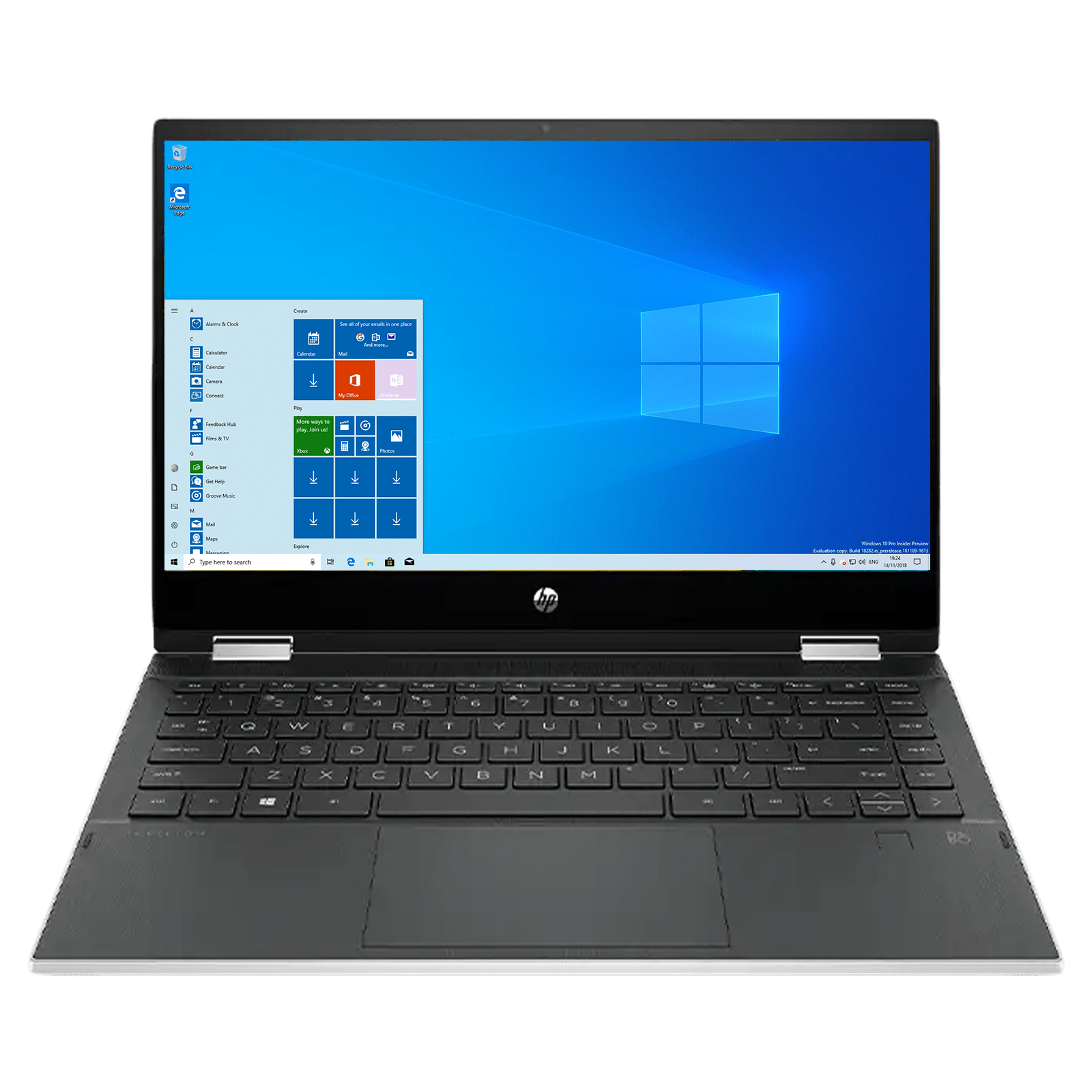HP Pavilion x360 14-dw1039TU (2R2H6PA#ACJ) Core i5 11th Gen Windows 10 Home 2-in-1 Laptop (8GB RAM, 512GB SSD, Intel Iris Xe Graphics, MS Office, 35.56cm, Natural Silver)