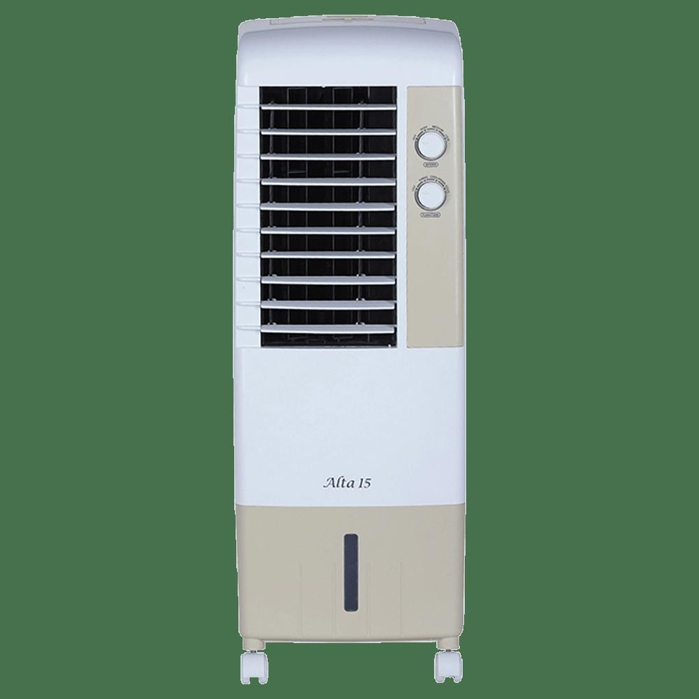 Kenstar Alta 15 Litres Tower Air Cooler (Inverter Compatible, KCLALTGY015BMH-ELM, Golden Yellow)